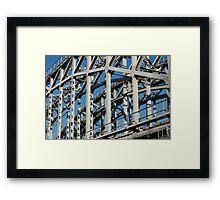riveted  bridge Framed Print