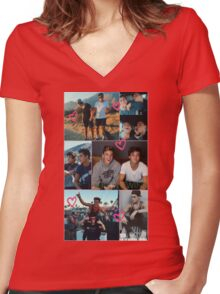 Dolan Twins collage 5  Women's Fitted V-Neck T-Shirt