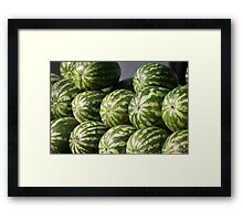 pile of watermelons Framed Print