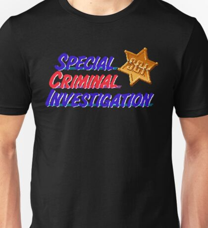 Special Criminal Investigation - Arcade Title Screen Unisex T-Shirt
