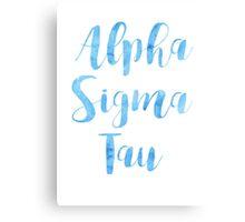 Alpha Sigma Tau Canvas Print
