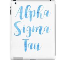 Alpha Sigma Tau iPad Case/Skin