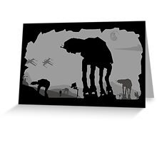 Hoth Machines Greeting Card