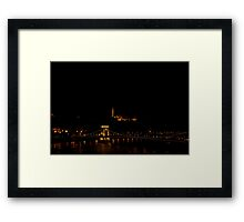 Budapest at night Framed Print