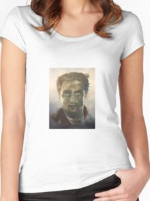 Harry Potter Oil Painting Women's Fitted Scoop T-Shirt