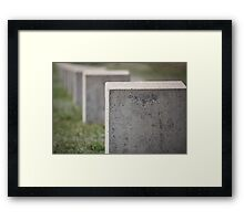 gravestone unknown soldier Framed Print