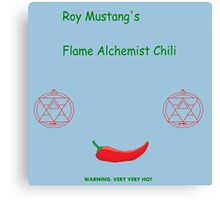 Roy Mustang's Flame Alchemist Chili Canvas Print