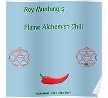 Roy Mustang's Flame Alchemist Chili Poster