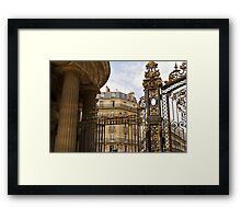 Parc Monceau - columns and gate Framed Print