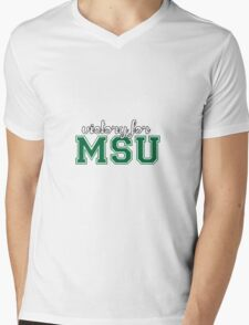 Victory for MSU Mens V-Neck T-Shirt