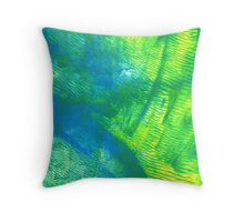 Abstract Print - Oceanic Pasture Throw Pillow