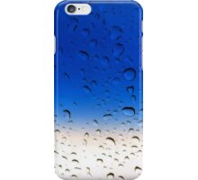 Raindrops on a Glass Window iPhone Case/Skin