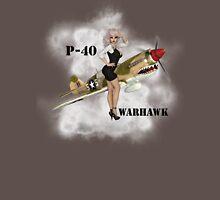 P-40 Pin Up Art Unisex T-Shirt