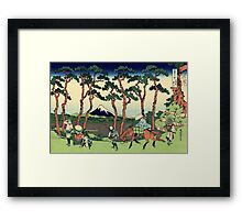 Hodogaya on the Tokaido - Hokusai - Views of Mount Fuji Print Framed Print