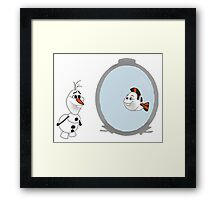 Olaf Disney mashup Framed Print