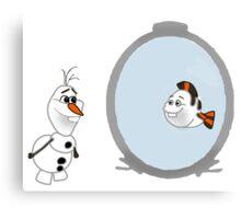 Olaf Disney mashup Canvas Print