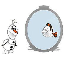 Olaf Disney mashup Photographic Print