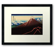 Lightning below the summit - Hokusai - Views of Mount Fuji Print Framed Print