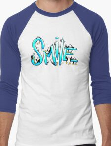 Smile Penguin Men's Baseball ¾ T-Shirt