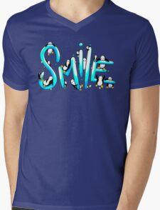 Smile Penguin Mens V-Neck T-Shirt