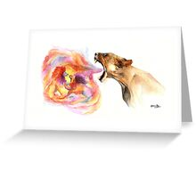 Lioness' Fury Greeting Card