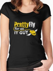 Pretty Fly for an IT Guy Geek Programmer Women's Fitted Scoop T-Shirt