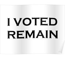 I Voted Remain Poster