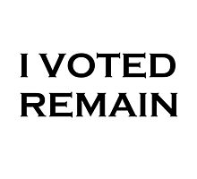 I Voted Remain Photographic Print