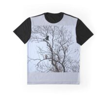 Avian Quarrel in Early Spring Graphic T-Shirt