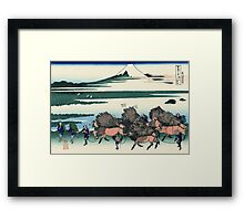 Ono Shindon in the Suraga province - Hokusai - Views of Mount Fuji Print Framed Print