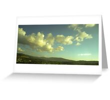 Clouded blue sky Greeting Card