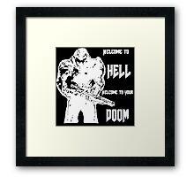 Doom 4 (white) Framed Print