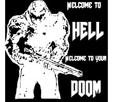 Doom 4 (white) Photographic Print