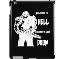 Doom 4 (white) iPad Case/Skin