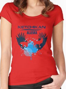 Ketchikan Alaska Downtown Women's Fitted Scoop T-Shirt