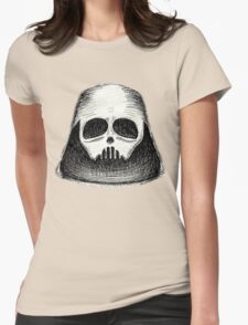black mask Womens Fitted T-Shirt