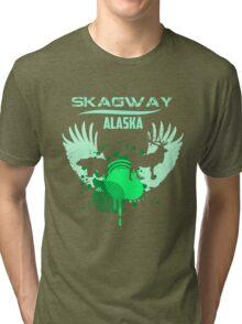 Skagway Alaska Downtown Tri-blend T-Shirt