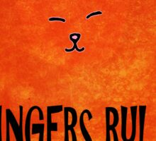 Gingers Rule Funny Orange Cartoon Cat Sticker