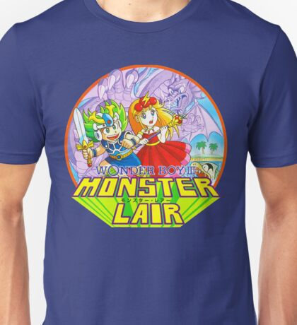 Wonder Boy - Turbografx/PC-Engine Box Art Unisex T-Shirt