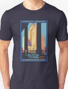 Vintage Travel Poster Toronto Canada Unisex T-Shirt
