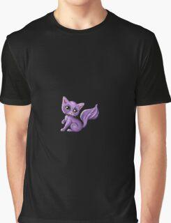 Purple Kitty Graphic T-Shirt