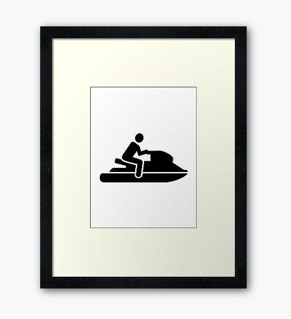 Jet ski driver Framed Print