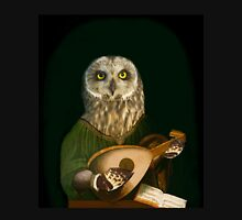 Owl Playing the Lute - Composite Painting Unisex T-Shirt