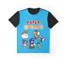 Paper Grumps Blue Graphic T-Shirt