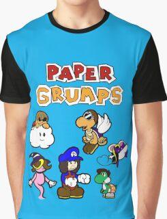 Paper Grumps Blue Graphic T-Shirt