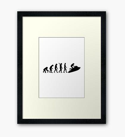 Evolution Jet Ski Framed Print