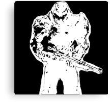 Doom guy Canvas Print