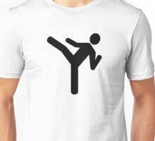 Martial arts kick symbol Unisex T-Shirt