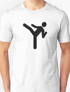 Martial arts kick symbol T-Shirt