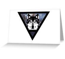 SpaceWolf Greeting Card